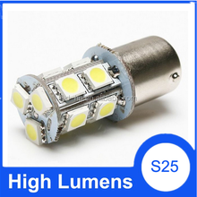 Automobile led 12v 1156 light bulb ba15s 13smd 5050 cars tail lights led turn signal motorcycle & car lights