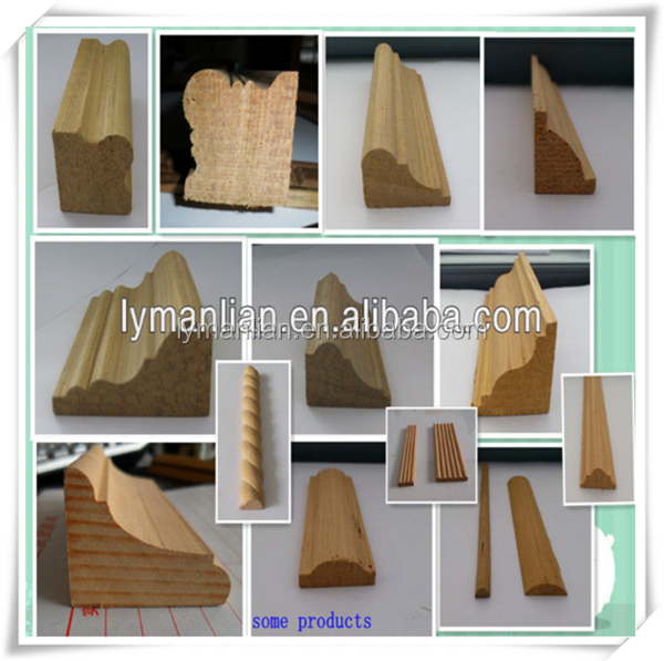 engineered wood cornice /decking wooden mouldings/unfinished wood frames