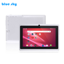 Promotional Gift tablet pc with quad core android 6.0 10 difference colour 7 inch allwinner A33 ROM 8GB tablet