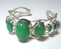 Stering Silver Bracelet With Jade