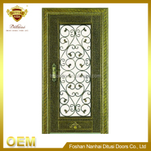 New design hot sale top quality luxury wrought iron entry door HL-J61