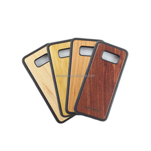 Blank wood phone case cover for Samsung , wooden mobile phone shell for Samsung S8