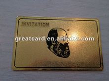 Golden Metal Member Card With Punch Number