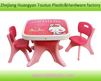 lovely plastic study desk and chairs,children desk factory B-X001