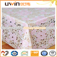Decorative wholesale tablecloth washable lace vinyl table cloth and table cover