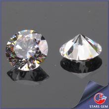 round brilliant cut cz stone white gems for wax setting