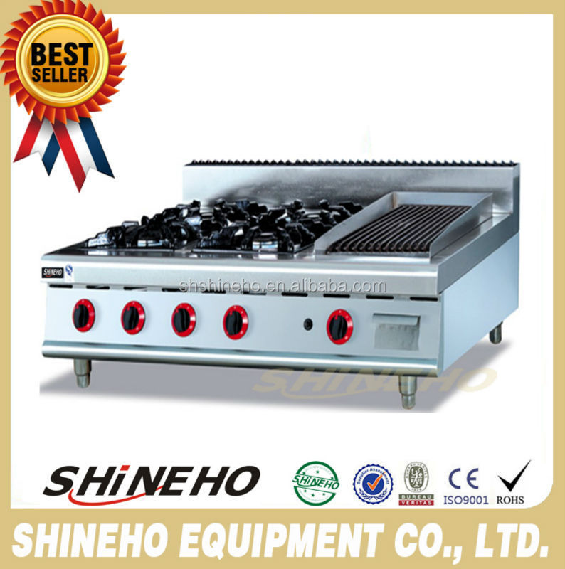 W051 hot selling Counter Top Gas Range With Four Burners And Grill for kitchen