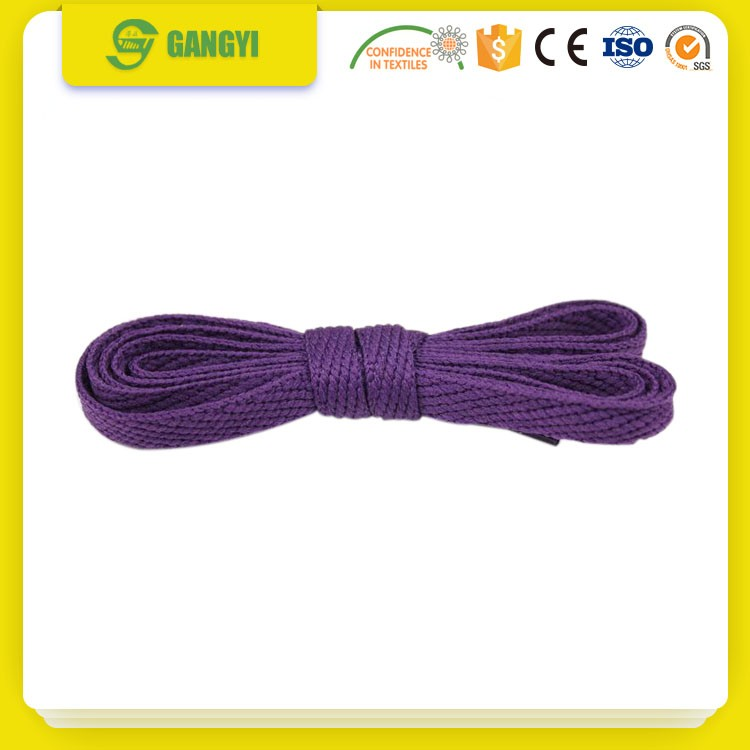 durable fancy round cord elastic shoelaces with custom tips
