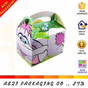 2018 direct factory custom new design cartoon printed children takeaway food box,meal box with OEM