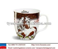 12oz ceramic horse coffee gift cup