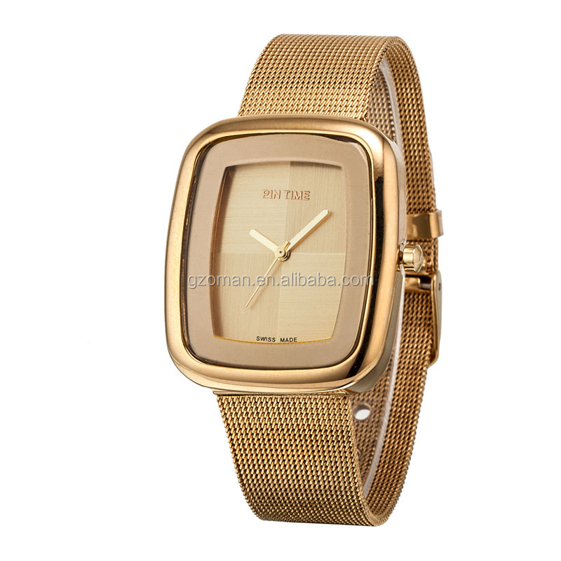 oem put your own logo women rectangle alloy hand watch for girl brand hours