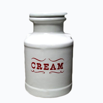 2015 New Product Cream Milk Can Ceramic Bottle Wholesale Mason Jars