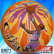 Photo customized hot sale wholesale rubber made #7 American basketball