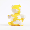 Yellow color coin bank with new design animal pig shaped/cheap price money box customized/large plastic piggy bank maker
