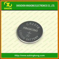 Storage card products, 3V Li-Mn Button Cell Batteries 75mah CR2016 by China supplier