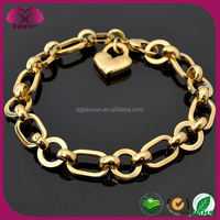 Best sale stainless steel gold link bracelet bangladesh jewelry