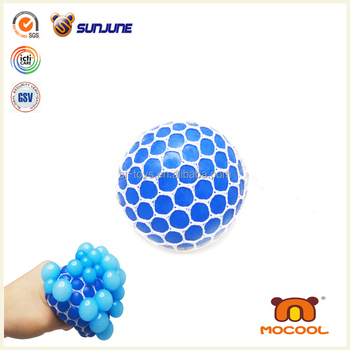 Hotsale mesh squishy ball, cutom stress ball promotional