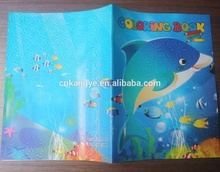2018 hot sale good quality custom children coloring softcover book printing