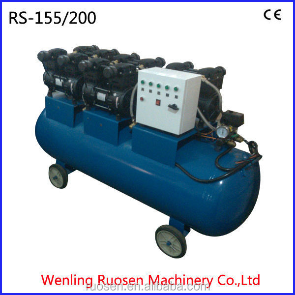 oil free compressor industrial with 300litr tank/silent piston air compressor