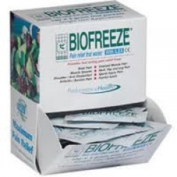 Biofreeze Sachets dispenser pack, 0.18oz/5gm (100 Satchets, in one box)