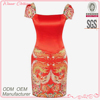 Chinese style ladies' slinky tight fit red special occasions dresses