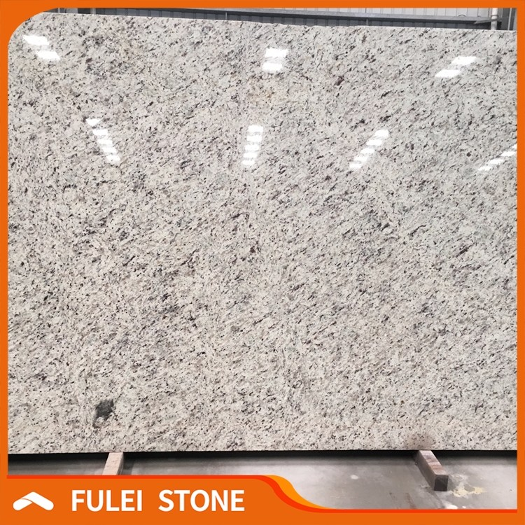 Wholesale cheap polished brazilian white rose granite slabs for sale