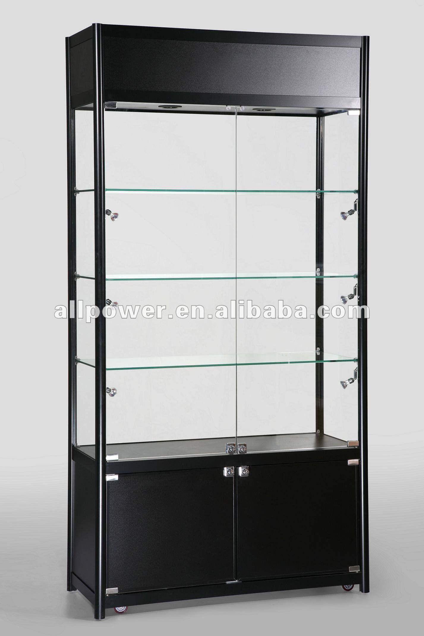 Black Gloss Mdf,Display Glass Cabinet (swc1000tc) - Buy Hobby Shop ...