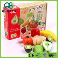 Japanese toys for children fruit cutting wooden game