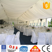 giant heavy duty metal wedding tent with roof lining