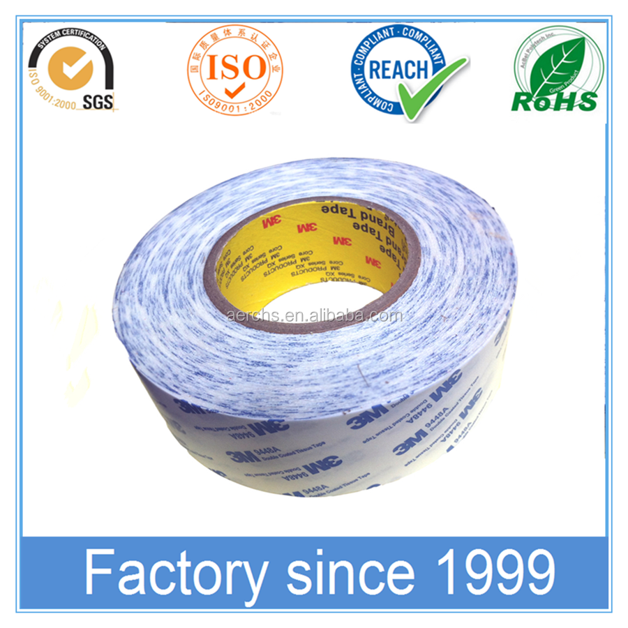 White Color Silicon Paper Double Sided Solvent Glue PE Foam Tape