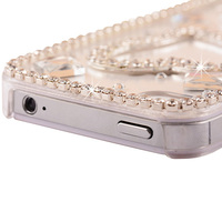 Fashion Rhinestone Mobile phone Cover Case Protective Shell for iPhone 4 4G 4S 5 5S