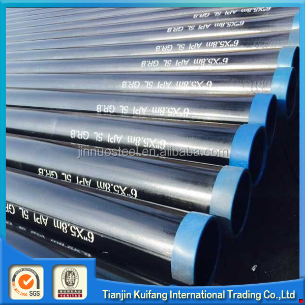 10 inch sch60 seamless steel pipe with black painting