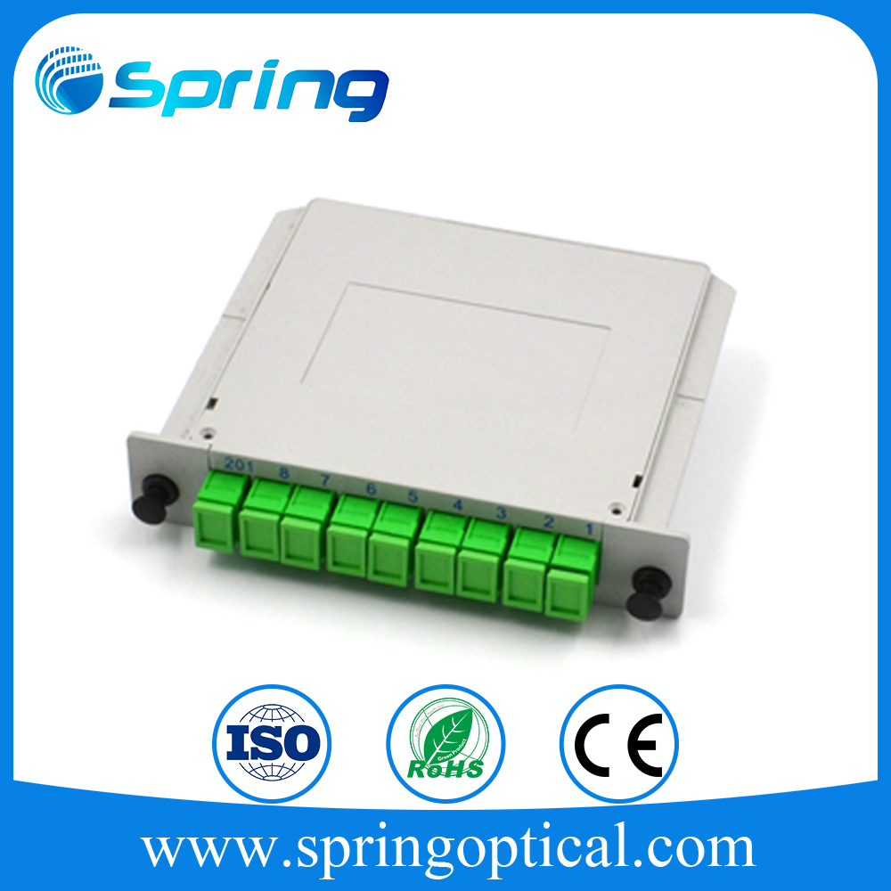 FTTH Indoor 4 Port ST Simplex Fiber Optic DIN Rail Splice Box