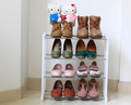 2015 stackable folding wardrobe plastic rack plastic metal shoe shelf