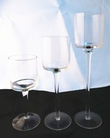 18/23/28cm high Champagne Transparent glass candle holder glass