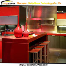 Fantastic hotel project artificial marble costumed kitchen cabinets for sale
