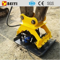 Excavator mounted hydraulic vibratory compactor plate for sale