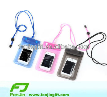 pvc mobile phone beach bag