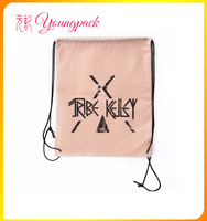 2016 new products high quality polyester pull string bag