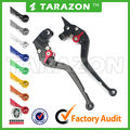 CNC Billet Aluminum Adjustable Standard Long Brake Clutch Lever Set For Dorsoduro 750
