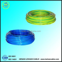 2015hot selling quality single core pvc insulated electric wire 1.5mm 2.5mm 4mm 6mm for sale