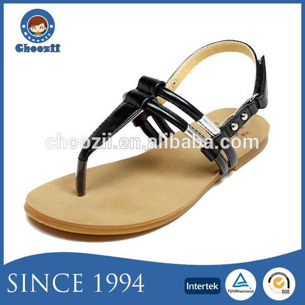 2016 Summer Fashionable Children Topless Thong Sandals with Flat Sole