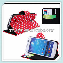 New arrivel!!!wallet flip case for samsung galaxy s4 mini