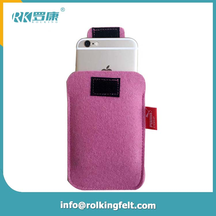 100% Wool felt mobile phone bags and cases