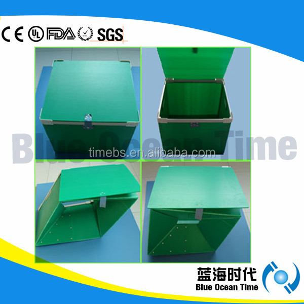 Foldable Polypropylene Hollow sheet Storage Box,Coroplast box