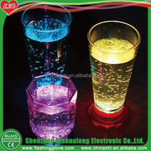 LED Glow Mug Disposable Plastic Cup With Lid