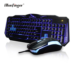 Factory price led backlit computer keyboard and mouse