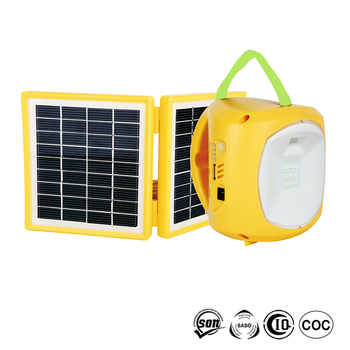 Stock ready 10 led solar lamp with mobile phone charger and 10-in-1 charger