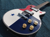 Customized national flag Lp electric guitar water transfer top