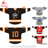 Top Sale Ice Hockey Wear Custom Half And Half Jerseys Uniforms China Supplier